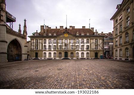 Old medieval city of Bern, Switzerland - stock photo