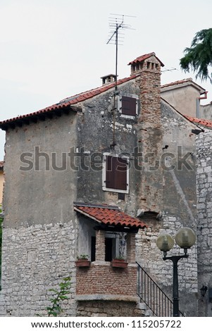 Old mediterranean house. Old stone houses. - stock photo