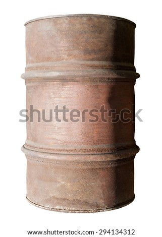 old metal barrel - stock photo
