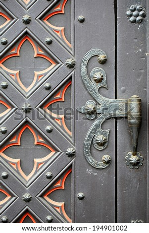 old metal door, background