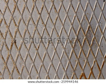 old metal rusty grunge background with grid  - stock photo