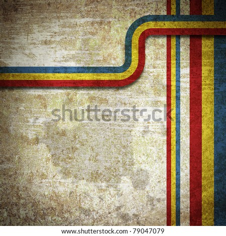 Old metal rusty grunge retro vintage paper background with pattern - stock photo