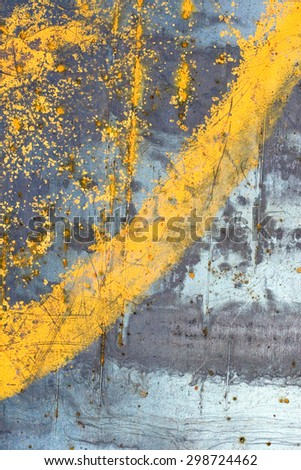 old metal with rust stains - stock photo
