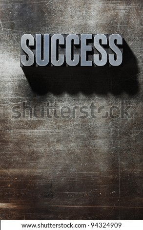 Old Metallic Letters:Success - metal background - stock photo