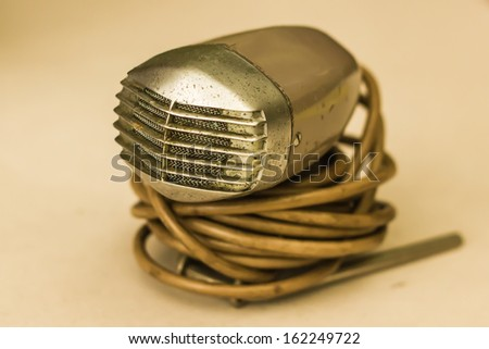 Old microphone. - stock photo