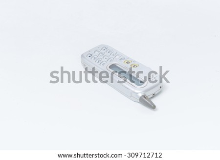 Old mobile phone grey color - stock photo