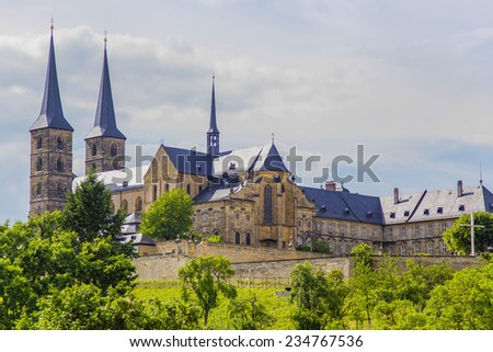 Old Monastery St. Michael in Bamberg - stock photo