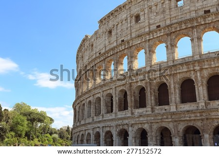 Old monument Colosseum in Rome