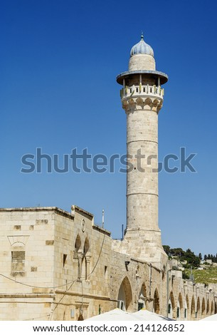 Old mosque in the center of Jerusalem, Israel  - stock photo