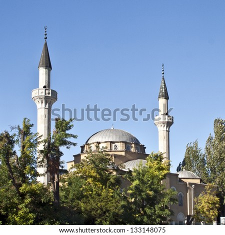 Old mosque with minarets