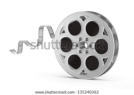 Old motion picture film reel - stock photo
