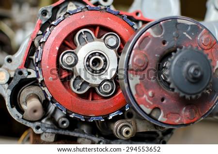 Old motor engine  - stock photo