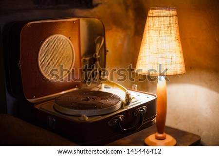Old music player - stock photo