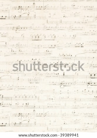 old music score - stock photo