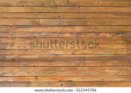 Old natural brown wooden board desk texture - stock photo