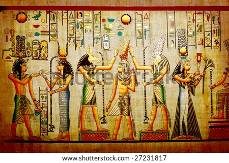 Old natural paper from Egypt - stock photo