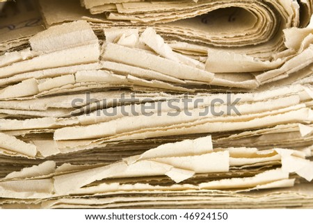 old newspapers - stock photo