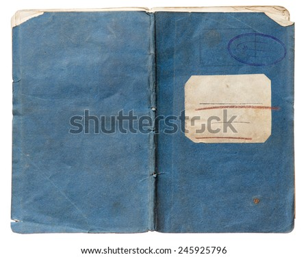 old note book isolated on white background - stock photo