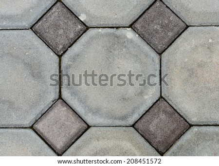 Old octagon Paving Slabs. Seamless Tileable Texture. - stock photo