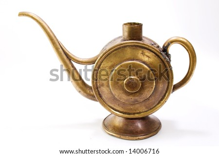 old oil can - stock photo