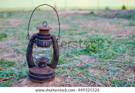 Old oil lamp