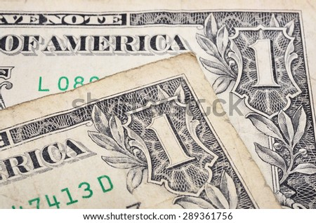 Old one dollar banknote