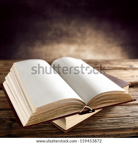 old open books  - stock photo