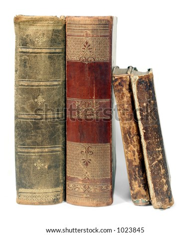 old open isolated book - stock photo