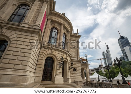 old opera frankfurt am main germany - stock photo
