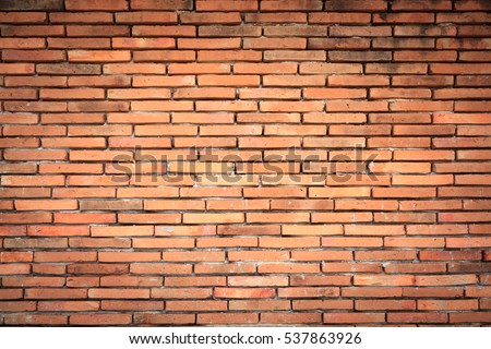 Old orange brick wall surface background texture