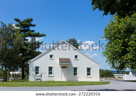 Old order church house, in lancaster county, - stock photo