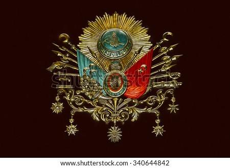 Old Ottoman Empire Emblem ( Old Turkish Symbol ) - stock photo