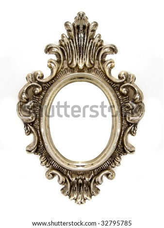 Old oval frame - stock photo