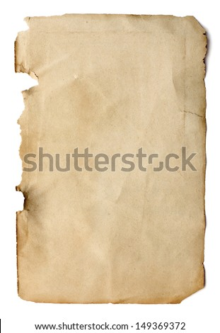 Old page from a book - stock photo