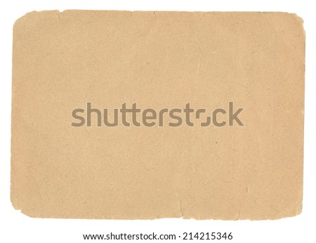 Old page paper for texture or background - stock photo