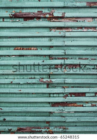 old painted green wood - stock photo