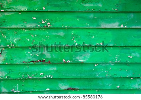 Old painted green wood - texture, backgroun - stock photo