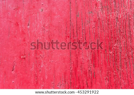 Old painted red wood texture