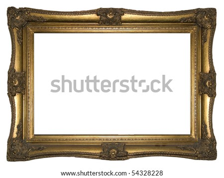 old paiting wood frame - stock photo