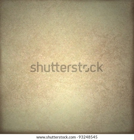 old pale brown or beige background or parchment illustration with white highlight in center and faded dark burnt border on frame with copy space and vintage grunge texture - stock photo