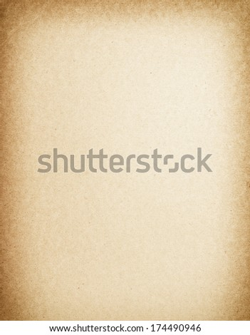 Old paper background with vignette - stock photo