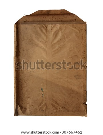 Old paper bags on white background - stock photo