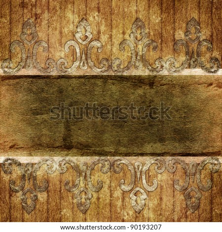 Old paper card - stock photo