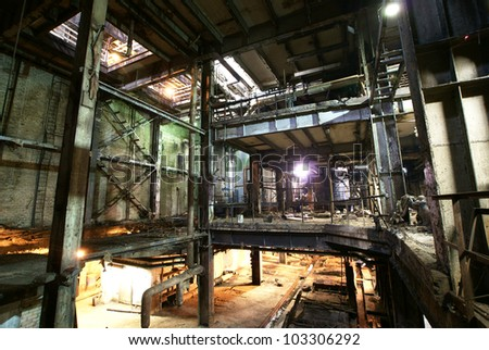 old paper factory - stock photo