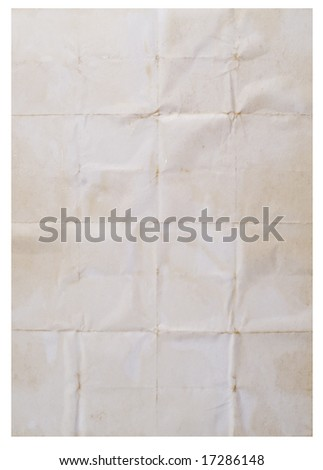 old paper great as a background isolated on white - stock photo