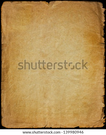 Old paper grunge texture - stock photo