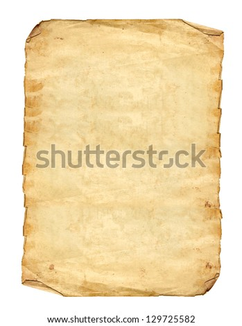 Old Paper In Rectangle Format - stock photo