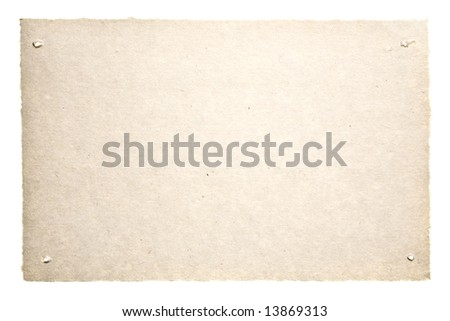 Old Paper Isolated On White. Ready for your message. - stock photo