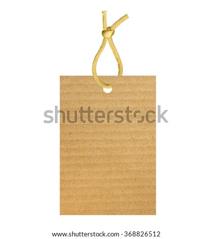 old paper label isolated on white background - stock photo