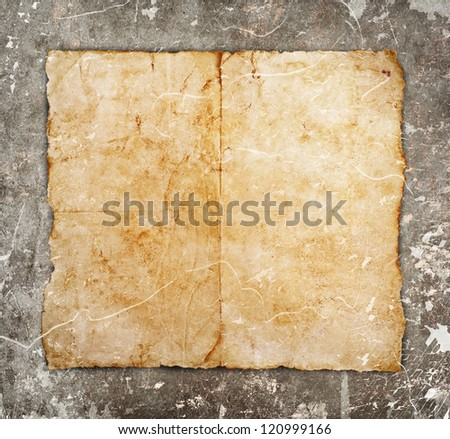 old paper on grunge background - stock photo
